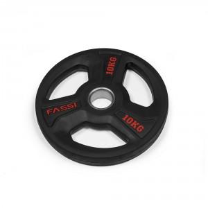Disco Olimpionico gommato professionale  10 kg Fassi