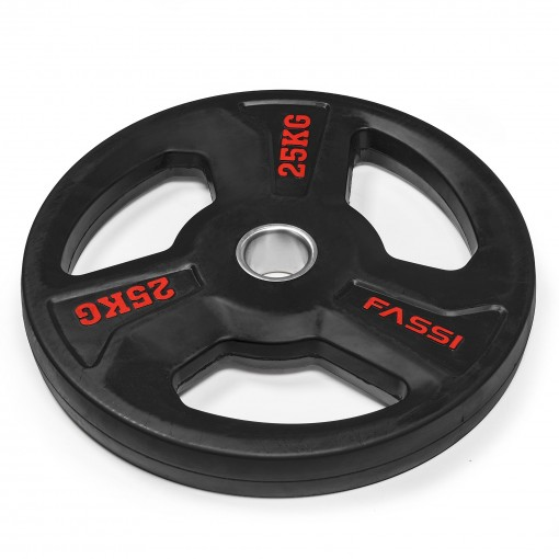 Disco Olimpionico gommato professionale  25 kg Fassi