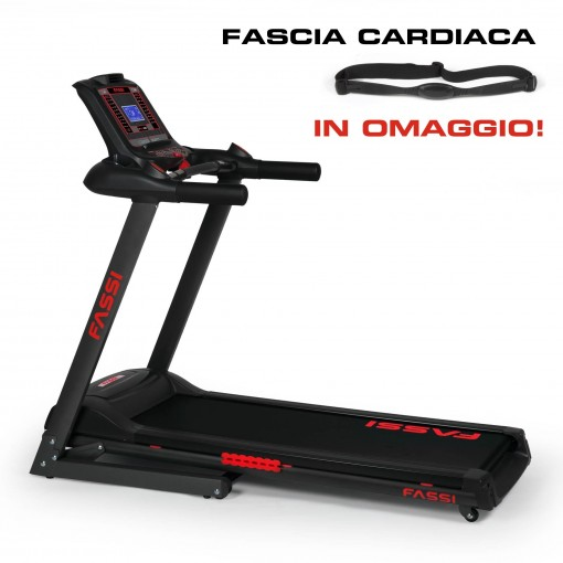 Tapis roulant Fassi F 6.4 HRC con fascia cardiaca in omaggio