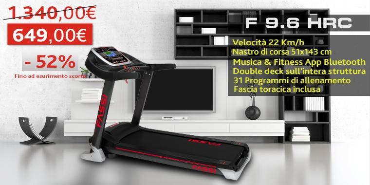 Promo Tapis Roulant Fassi F 9.6 HRC