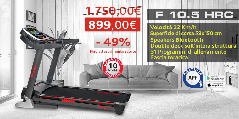Promo Tapis Roulant Fassi F 10.5